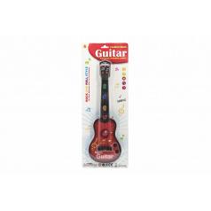 Teddies Gitara plast 41cm na batérie so zvukom so svetlom 2 farby na karte