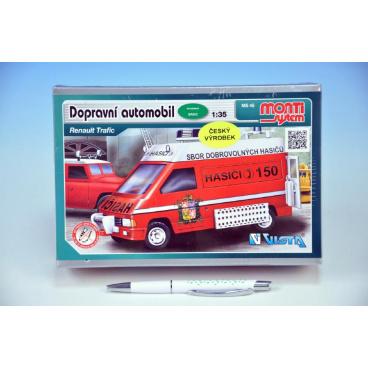 Monti System Stavebnice Monti 45 Fire Brigade-Renault Trafic 1:35 v krabici 22x16x5cm