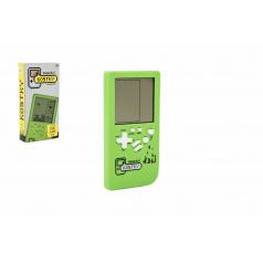Teddies Digitální hra Padající kostky hlavolam plast 14x7cm na baterie se zvukem v krabičce 7,5x14,5x2,5cm