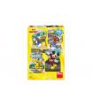 Dino Puzzle Mickey ve městě 4x54 dílků v krabici 27x19x4cm