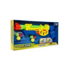 Teddies Pistole vodní stříkací pumpa+měkké míčky 6ks plast 45cm, assort 2 barvy