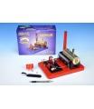 MERKUR Stavebnice funkční model parního stroje Standart v krabici 28x11x20cm