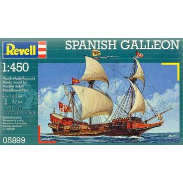 Revell 05899 Plastic ModelKit loď - Spanish Galeon (1:450)