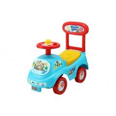 Teddies Odrážadlo auto plast modré výška sedadla 20cm v krabici 48x23,5x22,5cm 12-35m