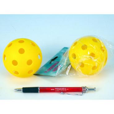 UNISON Floorball míč plast průměr 7cm asst 2 barvy