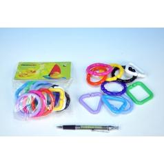 Profibaby Reťaz/zábrana tvary plast 6cm 10ks v sáčku od 0 mesiacov