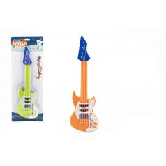 Teddies Gitara s trsátka plast 42cm Zvieratká a ich kapela 2 farby na karte