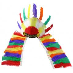 Indiánská barevná čelenka
