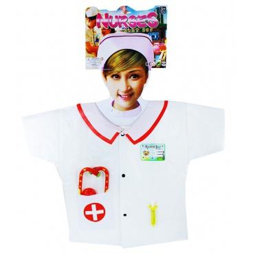 Karnevalový dětský kostým zdravotní sestřička s doplňky