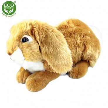 Rappa Plyšový králík ležící 30 cm ECO-FRIENDLY