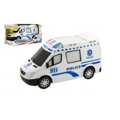 Teddies Auto policie plast 20cm narážecí na baterie se zvukem se světlem
