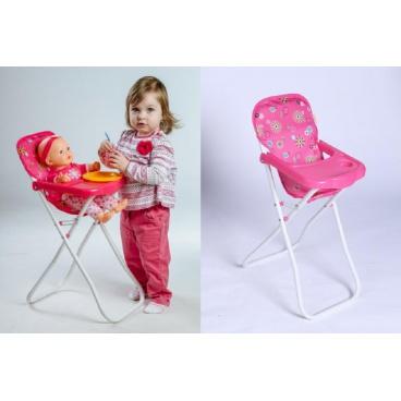 Teddies Židlička pro panenky vysoká kov/plast 33x26x60cm v sáčku