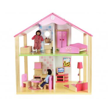 Eichhorn Dřevěný domeček pro panenky s příslušenstvím