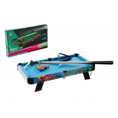 Teddies Kulečník/Billiard dětský 63,5x34,5x12,5cm v krabici 65x37x7cm