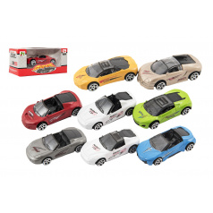 Auto kov/plast 7cm na volný chod mix druhů v krabičce 11x5x5cm