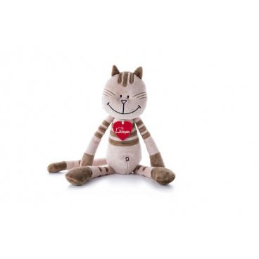 Lumpin plyš Kočka Kate, střední - Béžová (38 cm)