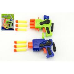 Teddies Pištoľ na penové náboje plast 14cm asst 2 farby na karte