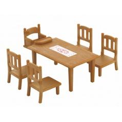 Sylvanian Families Nábytek - jídelní stůl se stoličkami
