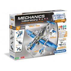 Clementoni Mechanická laboratoř - Letadla a vrtulníky, 10 modelů, 200 dílků