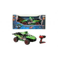 Auto RC buggy zelené plast 28cm s dálkovým ovládáním na baterie v krabici 44x19x22cm