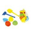 Chemoplast Sada na písek plast lopatka, hrabičky, 4ks bábovky v síťce