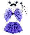 Dětský karnevalový kostým pavoučí čarodějka s křídly