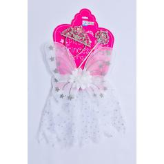 Mac Toys Šaty pro princeznu - bílé