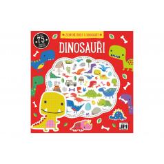 Jiri Models Zábavné úkoly s dinousaury s pěnovými samolepkami 20x20cm