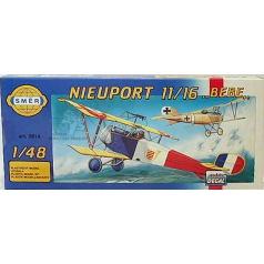 Směr model letadla Nieuport 11/16 Bebe 12,9x16,2cm v krabici 31x13,5x3,5cm