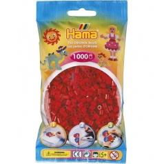HAMA Tmavě červené korálky - 1000 ks MIDI