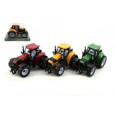 Traktor plast 17cm na setrvačník asst 3 barvy