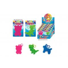 Teddies Přívěšek Bubble pops-Praskající bubliny silikon antistr. spol. hra 3druhy na kartě 10x15cm 24ks box