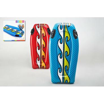 Intex Lehátko/plavací deska s úchyty nafukovací 112x62cm asst 2 barvy