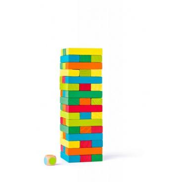 Woody Tower Tony věž Jenga barevná