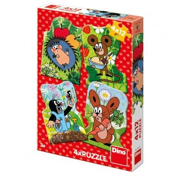 Dino Ostatní Dino dětské puzzle Krteček 4x12D