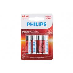 Teddies Baterie Philips AA(LR6) 1,5V 4ks na kartě Alkaline