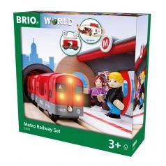 Brio 33513 Souprava metra s nástupištěm a kolejemi
