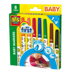 SES Dětské  fixy, 8 barev
