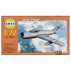 Směr Model MiG-17PF in Vietnam War 1:72 13,3x16,2cm v krabici 25x14x4cm