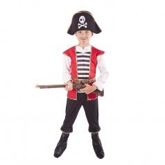 Dětský kostým pirát s kloboukem vel. M
