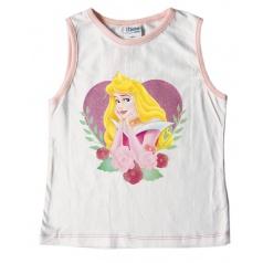 """Licence Only Tričko dívčí bez rukávů """"Princess"""" bílé, vel. 10"""