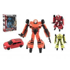 Transformer auto/robot plast 17cm asst 4 barvy