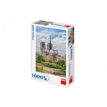 Dino Puzzle Katedrála Notre-Dame, Paříž 47x66cm 1000 dílků v krabici 23x32x7cm