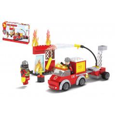 Dromader Kocky stavebnice Dromader hasiči 142 dielikov v krabičke 22x15x5cm