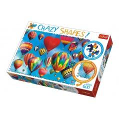 Trefl Puzzle Farebné balóny 600 dielikov Crazy Shapes 68x48cm v krabici 40x27x6cm