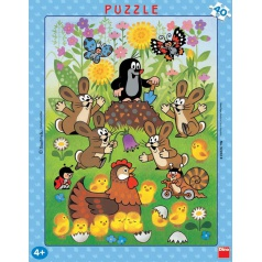 Dino dětské puzzle Krtek a velikonoce  40D