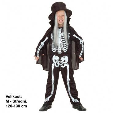 Dětský karnevalový kostým - Kostlivec 120-130cm