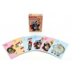 Akim Černý Petr Krtek společenská hra - karty v krabičce 6x9cm