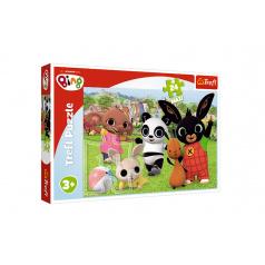 Trefl Puzzle Maxi 24 dílků Bing Bunny Zábava v parku 60x40cm v krabici 40x26,5x4cm