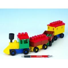 LORI Stavebnice LORI 6 vlak+ 3 vagónky plast v sáčku 9x29x5cm